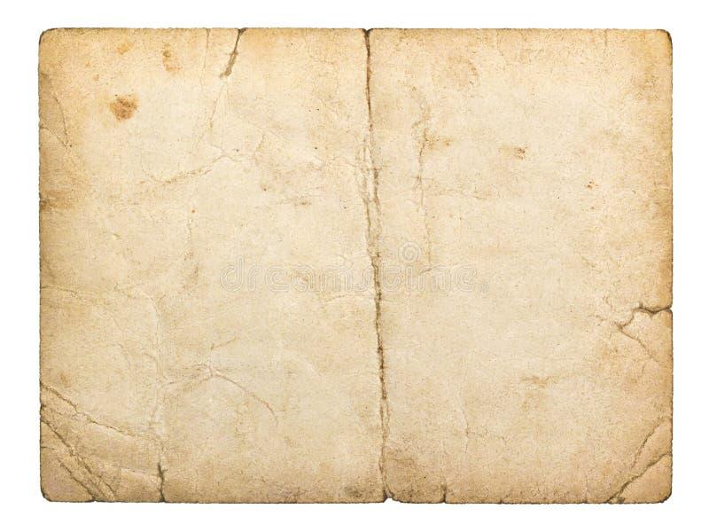 Tarjeta vieja del cartón imagenes de archivo