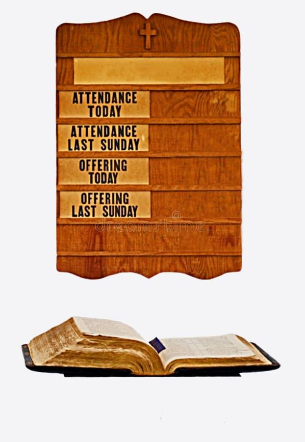 Tarjeta y biblia de la iglesia imagenes de archivo