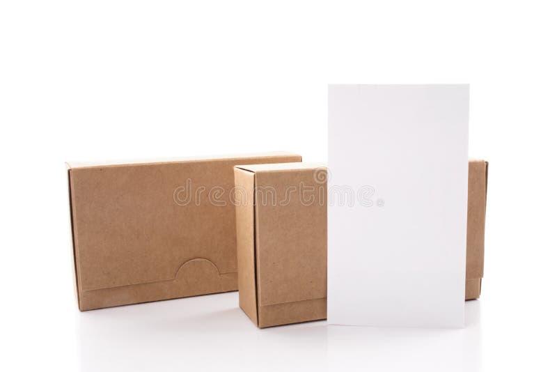 Tarjeta y cajas de visita fotografía de archivo libre de regalías