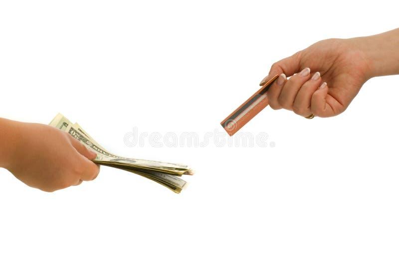 Tarjeta y dinero en circulación de crédito foto de archivo libre de regalías