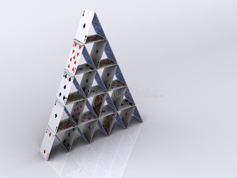 Tarjetas 8 del juego ilustración del vector