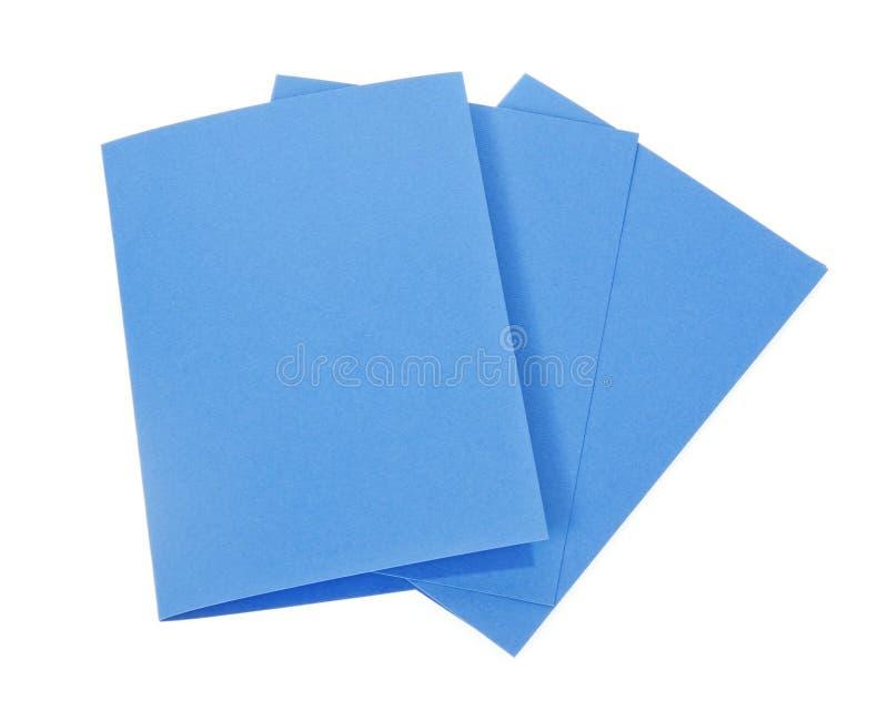 Download Tarjetas Azules Aisladas En Blanco Imagen de archivo - Imagen de cartón, postal: 41918705