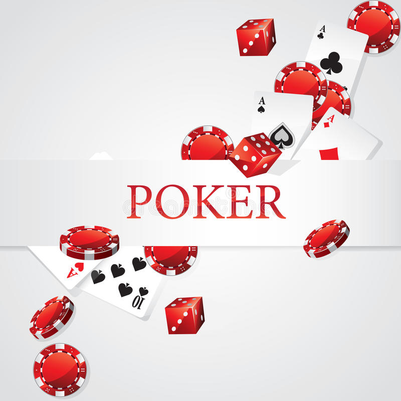 Tarjetas Chips Dice Poker stock de ilustración