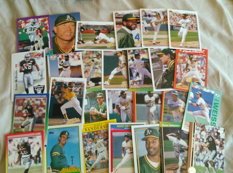 Tarjetas de béisbol imagenes de archivo
