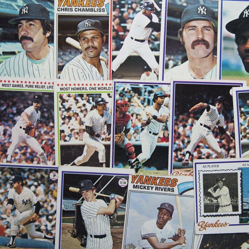 Tarjetas de béisbol viejas imagen editorial. Imagen de vendimia ...