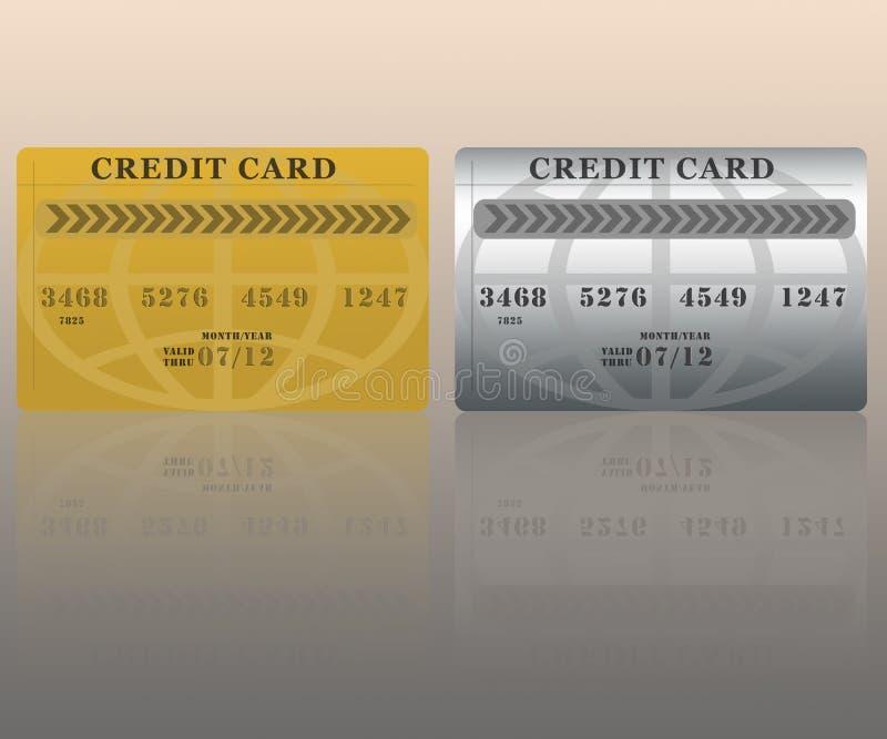 Tarjetas de crédito stock de ilustración