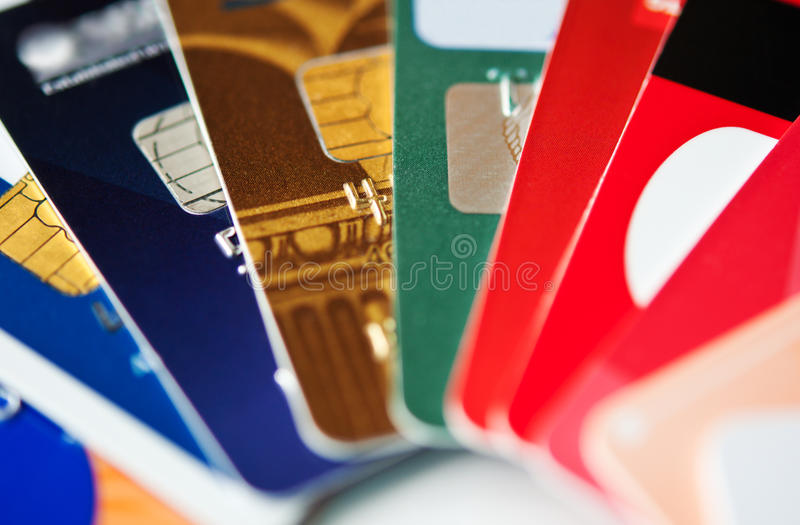 Tarjetas de crédito fotos de archivo libres de regalías