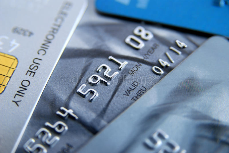 Tarjetas de crédito foto de archivo libre de regalías