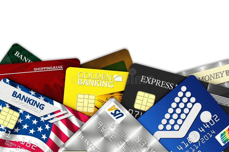 Tarjetas de crédito falsas ilustración del vector