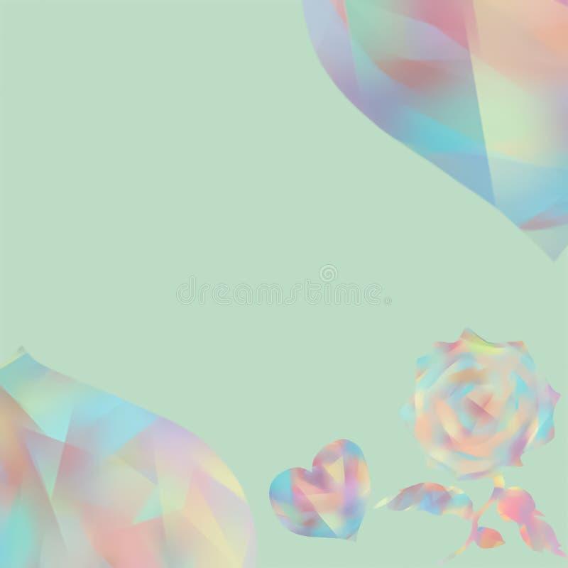 Tarjetas de felicitación para el día de Valentine's Boda feliz Collage borroso libre illustration