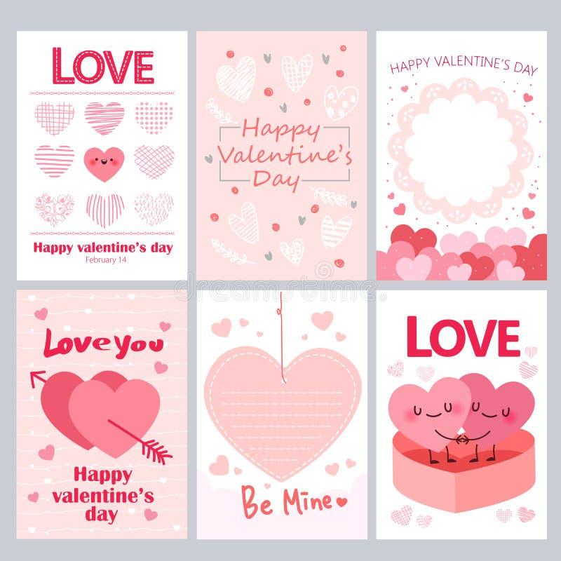 Tarjetas de felicitación para Valentine Day libre illustration