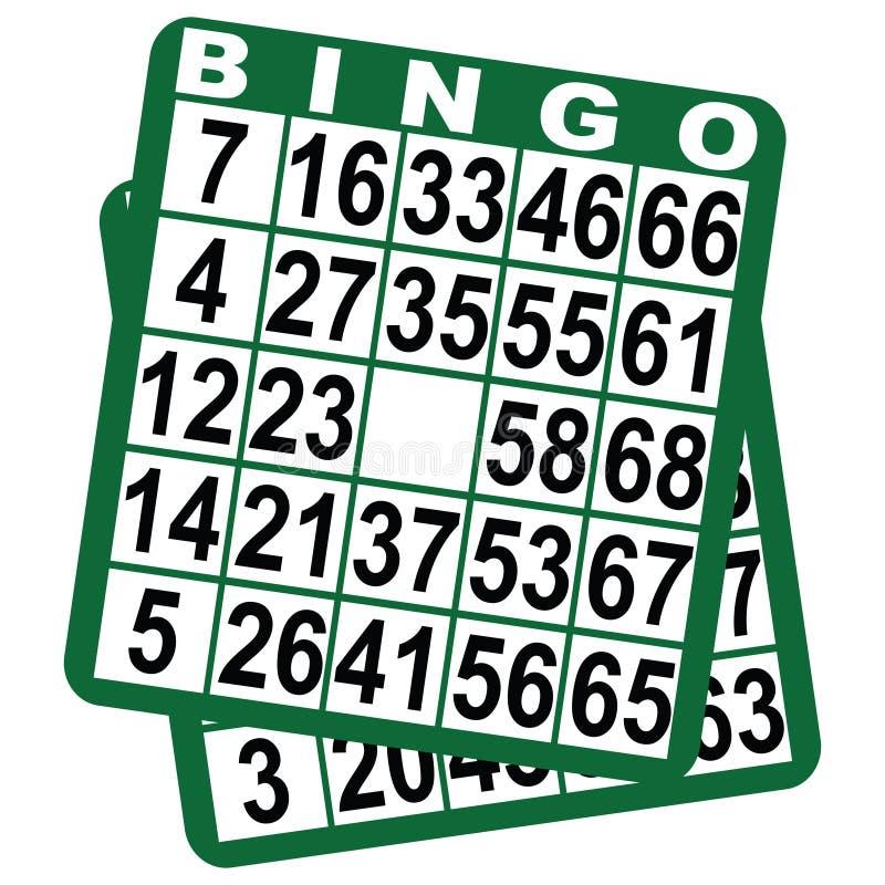 Tarjetas de juego del bingo libre illustration