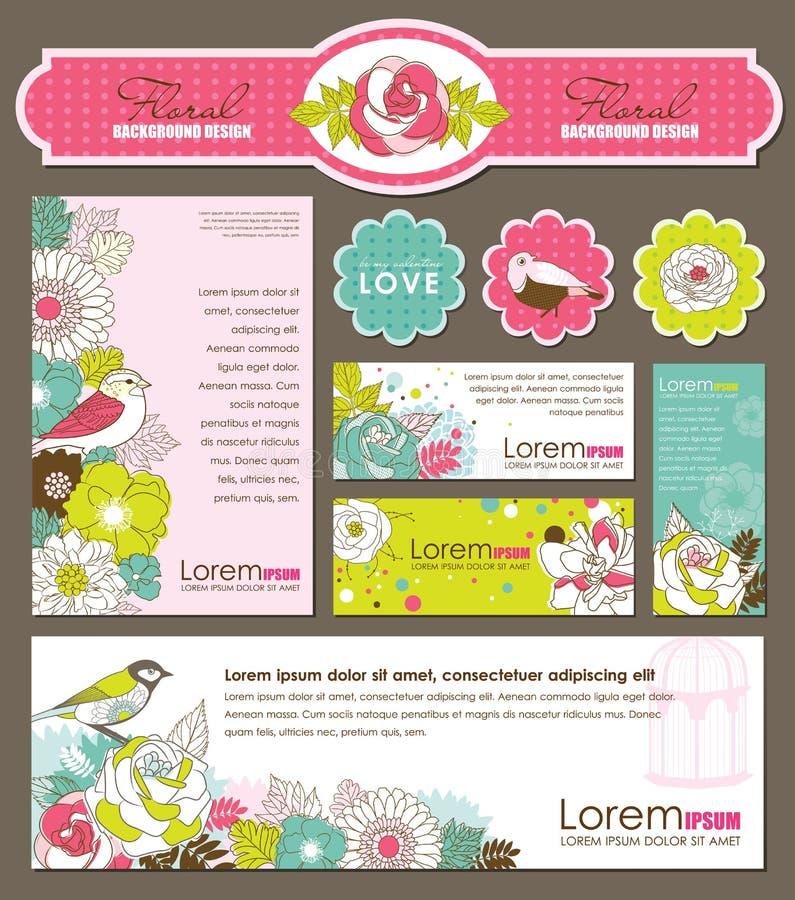 Tarjetas de la etiqueta y de felicitación del regalo libre illustration