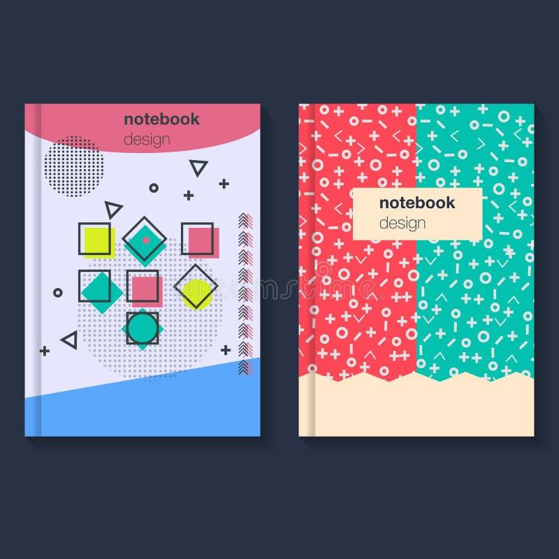Tarjetas de la geometría para la cubierta stock de ilustración
