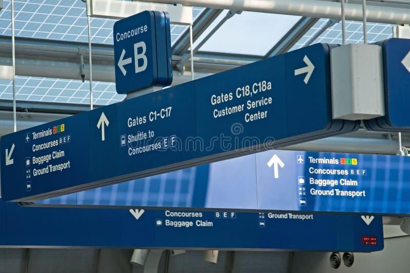 Tarjetas de la información del aeropuerto imagen de archivo libre de regalías