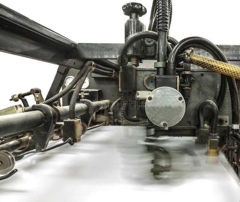 Tarjetas de la máquina y de la impresión de la perforación imagen de archivo libre de regalías