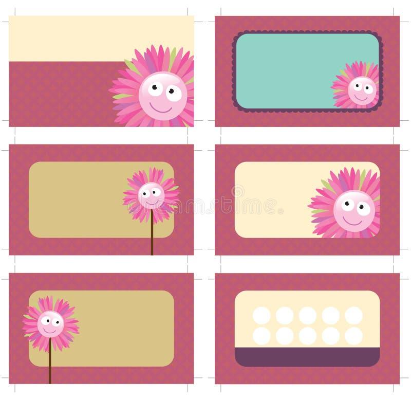tarjetas de la tarjeta y del promo de visita 3.5x2 ilustración del vector