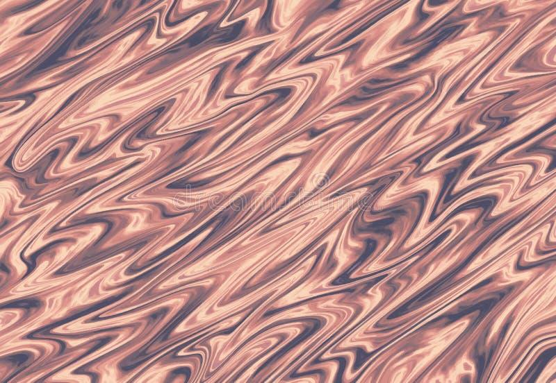 Tarjetas de mármol líquidas del diseño del oro de Rose Modelo abstracto del brillo de la pintura de la tinta Las plantillas de mo ilustración del vector