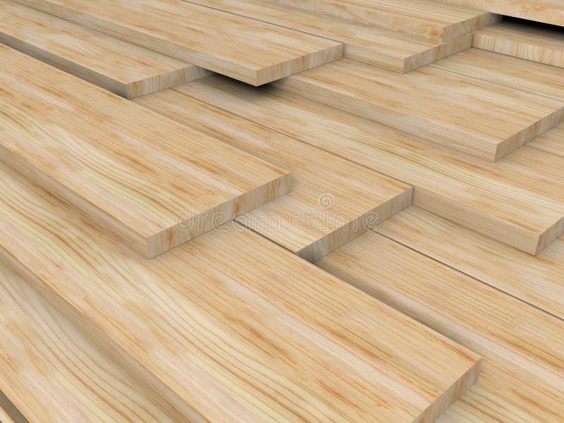 Tarjetas de madera ilustración del vector