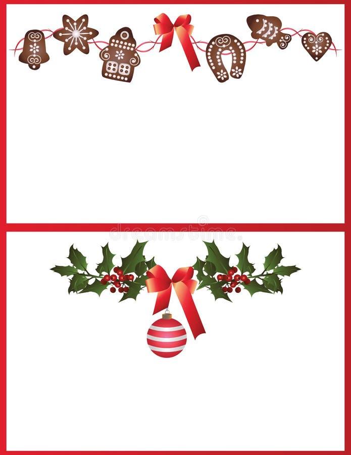 Tarjetas de Navidad stock de ilustración