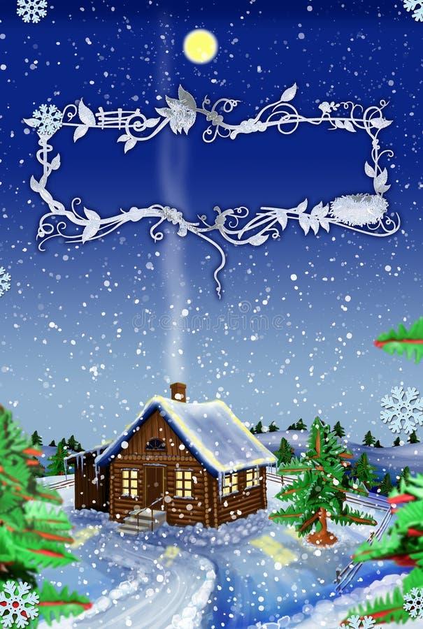 Tarjetas de Navidad. stock de ilustración