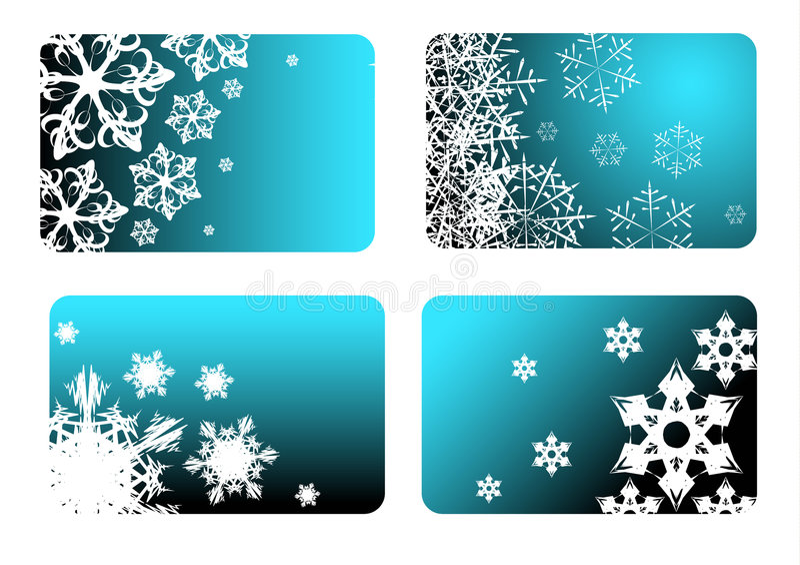 Tarjetas de Navidad azules ilustración del vector