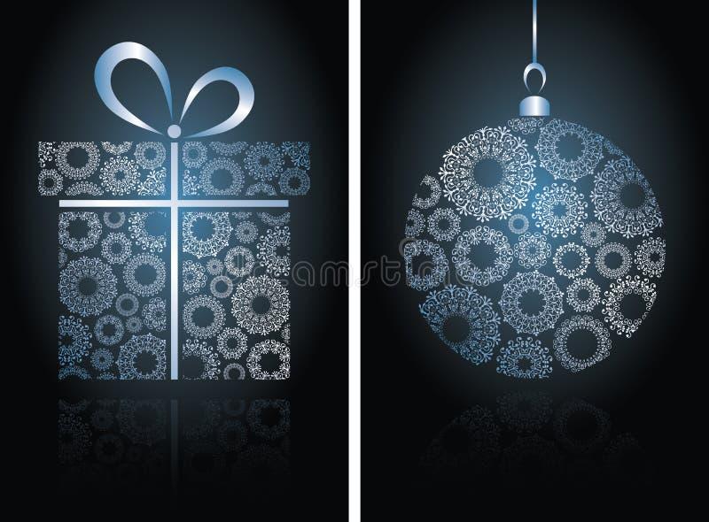 Tarjetas de Navidad con la bola libre illustration