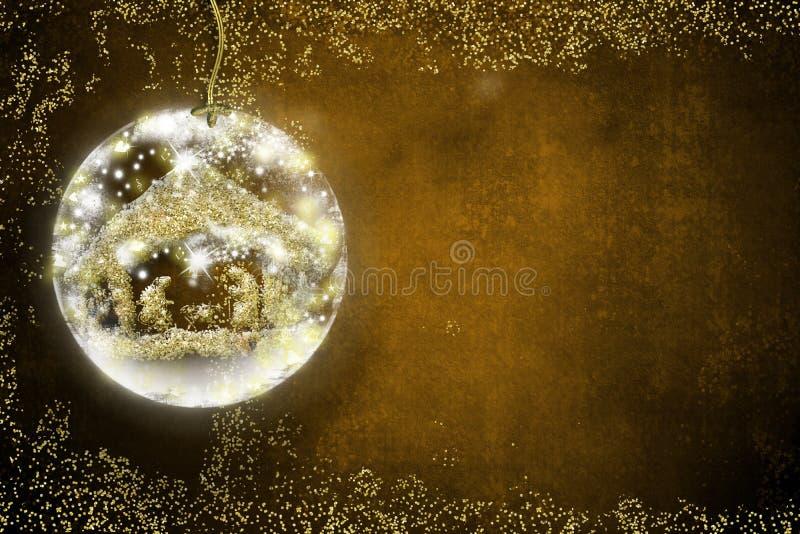 Tarjetas de Navidad de la escena de la natividad libre illustration