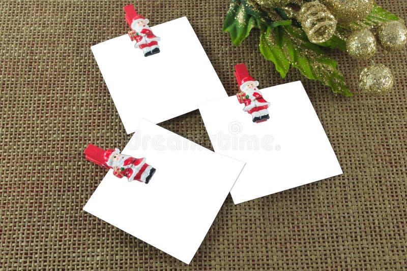 Tarjetas de nota de la Navidad imagen de archivo