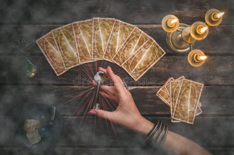 Tarjetas de Tarot imagen de archivo
