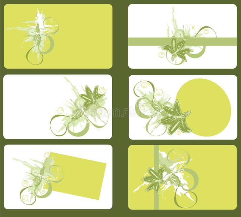 Tarjetas de visita stock de ilustración