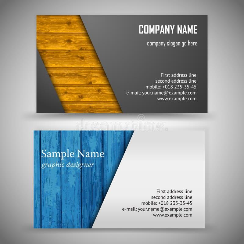 Sistema de la tarjeta de visita stock de ilustración