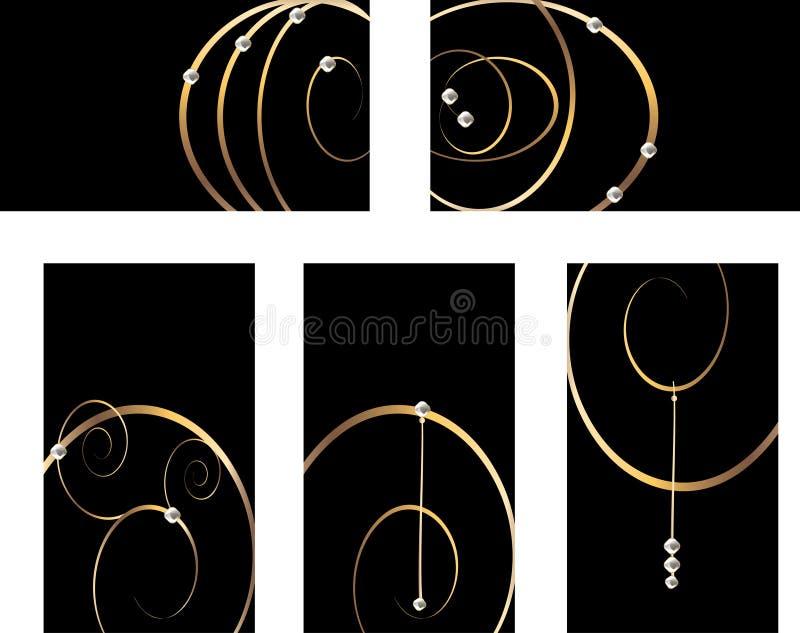 Tarjetas de visita del bucle del oro libre illustration