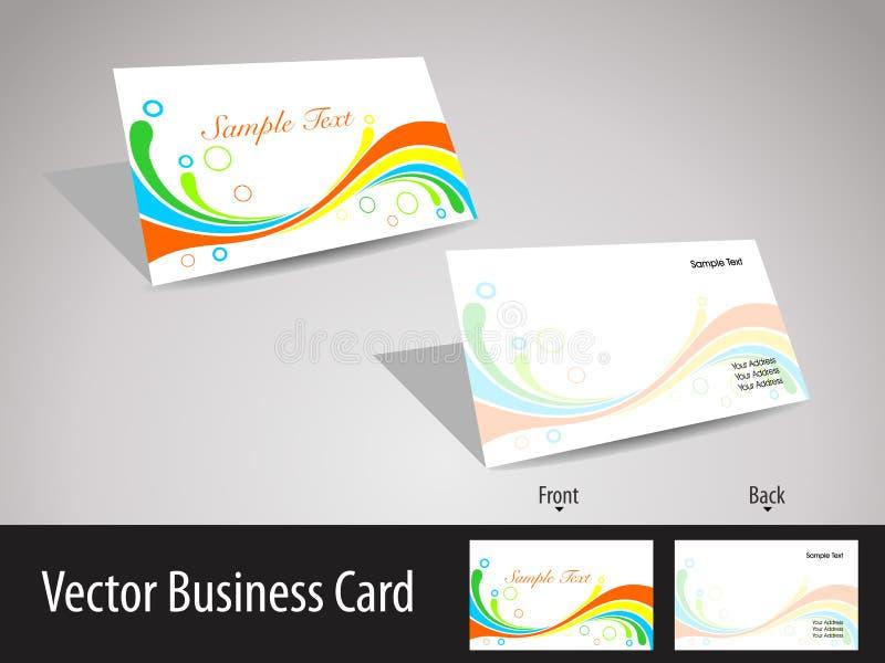 tarjetas de visita del tema de la onda de los multicolors ilustración del vector