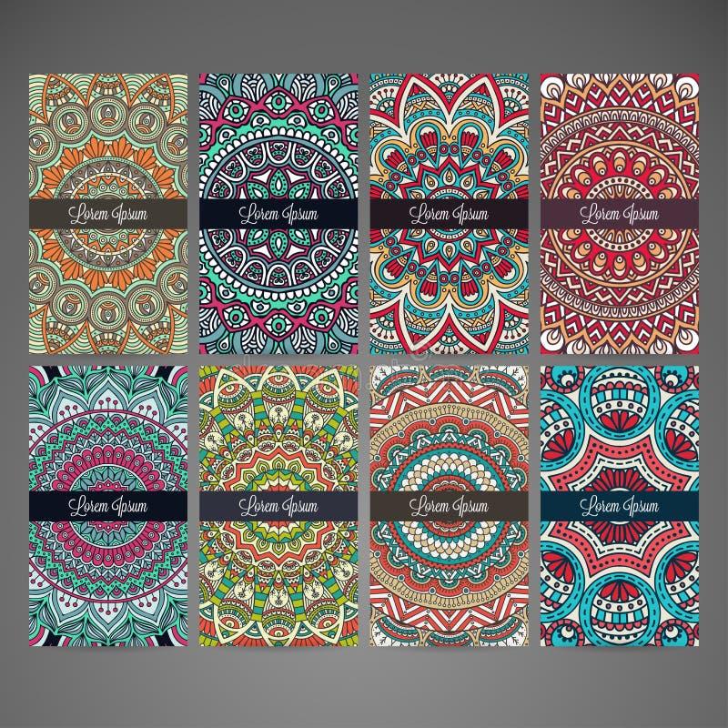 Tarjetas de visita Elementos decorativos de la vendimia libre illustration