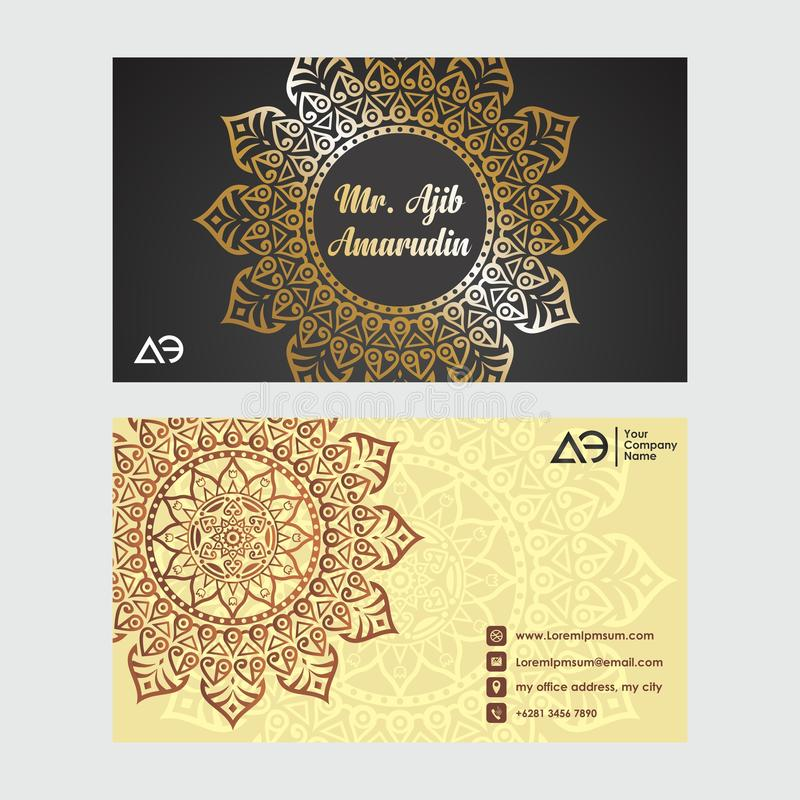 Tarjetas de visita Elementos decorativos de la vendimia Tarjetas de visita florales ornamentales, modelo ilustración del vector