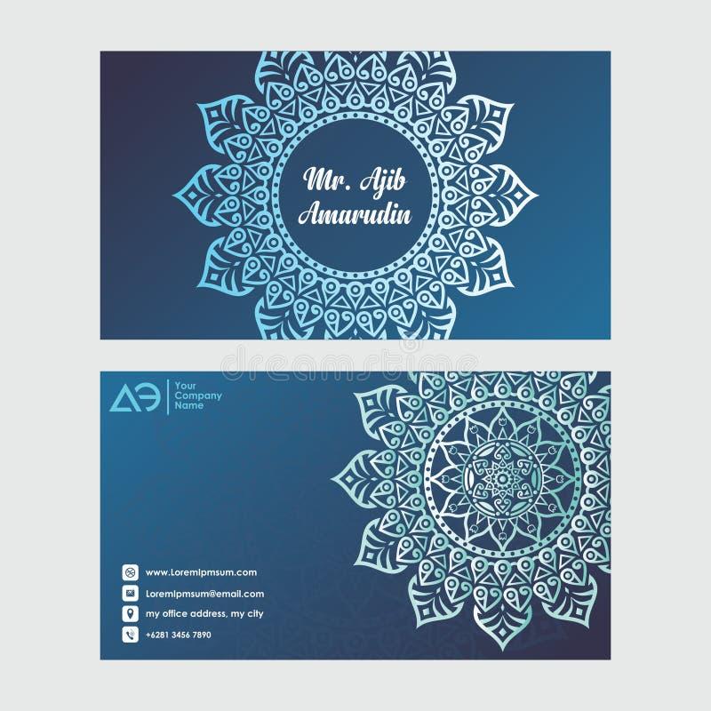Tarjetas de visita Elementos decorativos de la vendimia Tarjetas de visita florales ornamentales, modelo oriental libre illustration