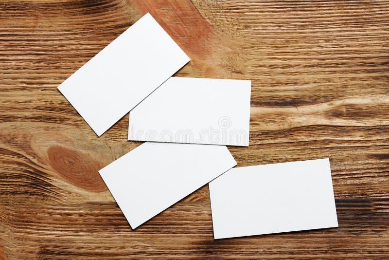 Tarjetas de visita en blanco imágenes de archivo libres de regalías