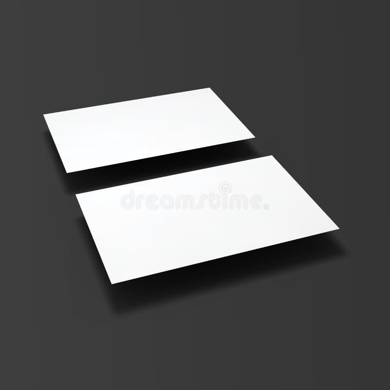 Tarjetas de visita en blanco ilustración del vector