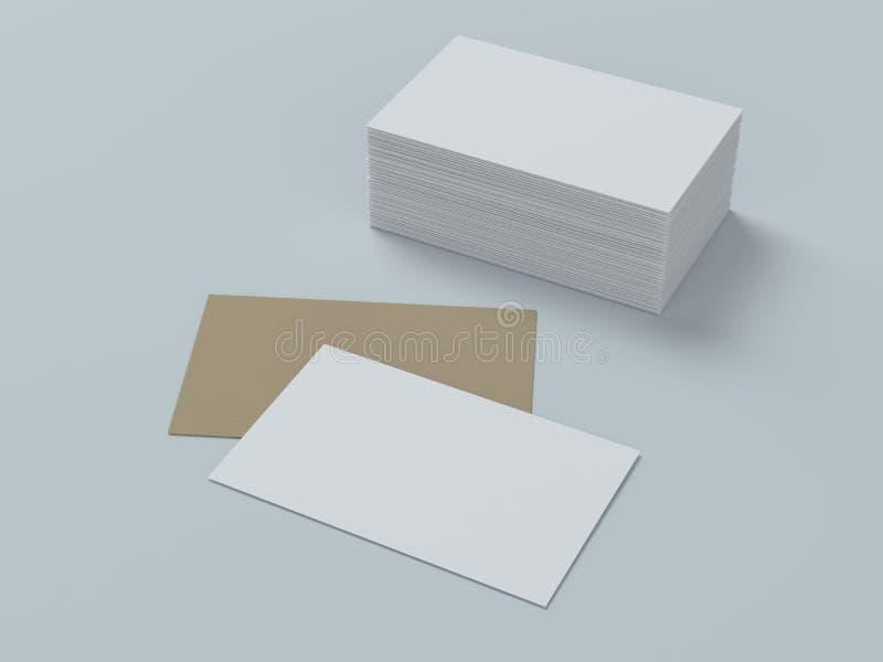 Tarjetas de visita en blanco, diseño de la identidad, plantillas corporativas, estilo de la compañía fotografía de archivo