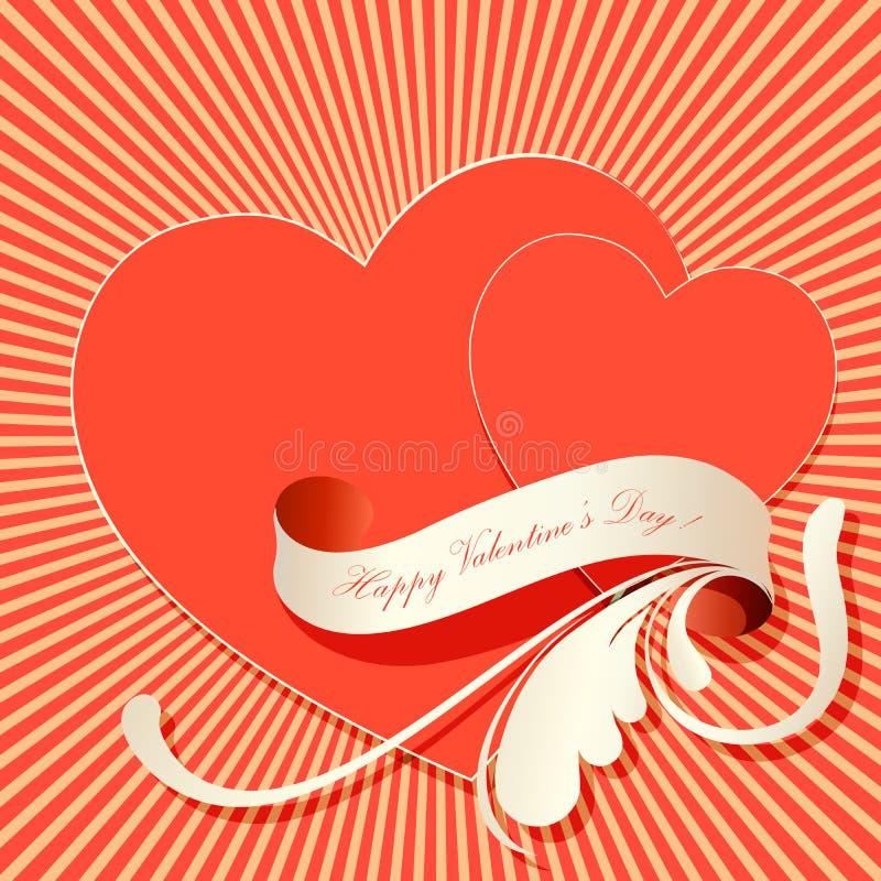 tarjetas del día de San Valentín background2 stock de ilustración