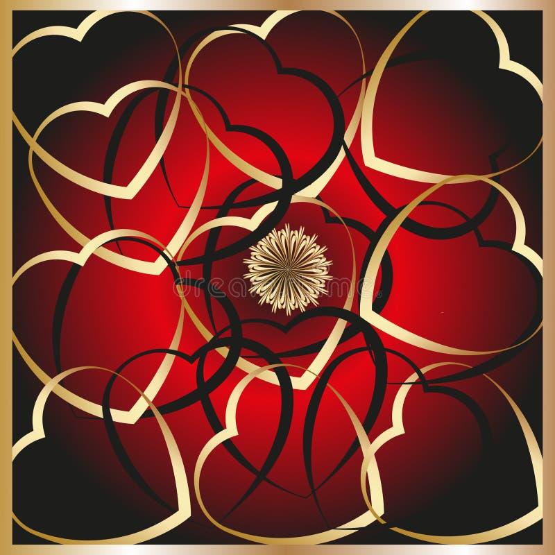 Tarjetas del día de San Valentín día celebración 14 de febrero stock de ilustración