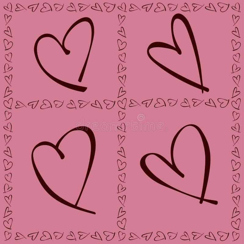 Tarjetas del día de San Valentín Daya Card fotos de archivo libres de regalías