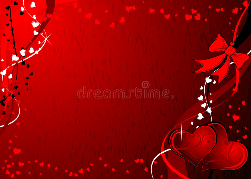 Tarjetas del día de San Valentín fondo, vector de Grunge ilustración del vector