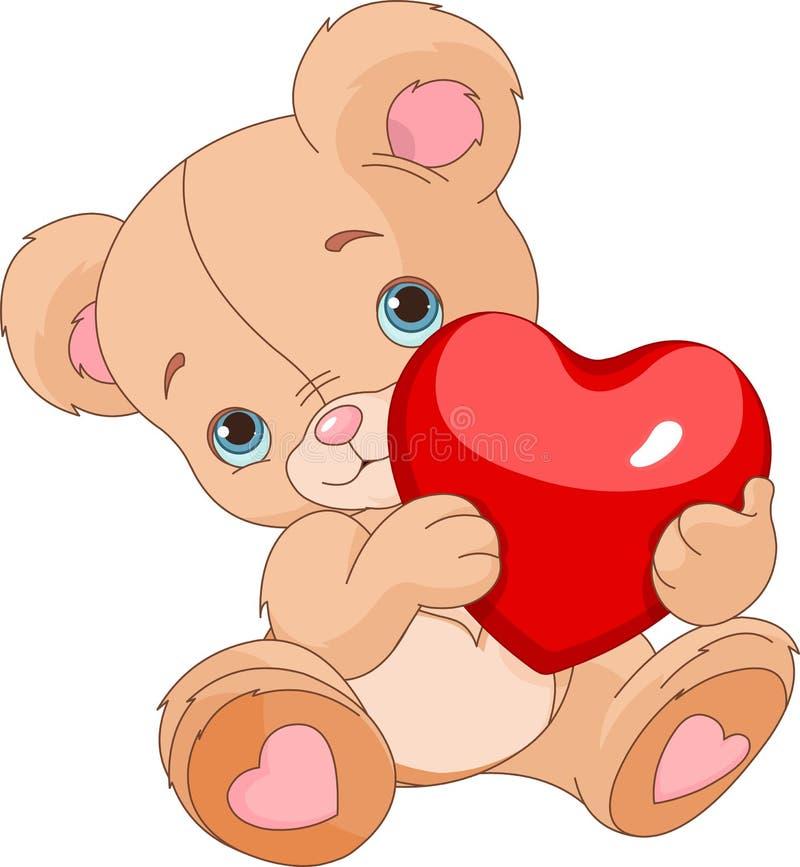Tarjetas del día de San Valentín Teddy Bear libre illustration