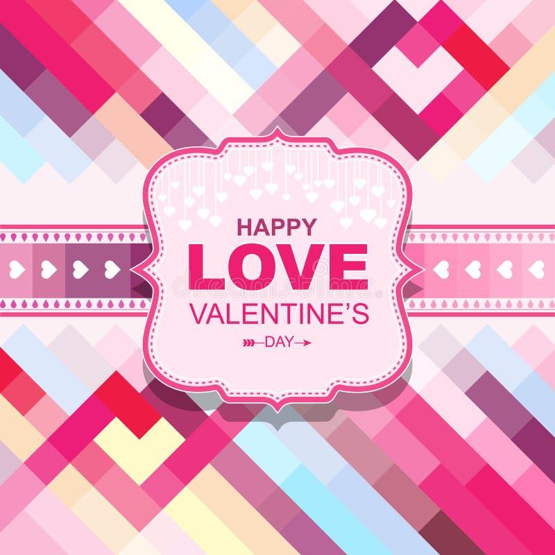 Tarjetas del día de tarjeta del día de San Valentín con los ornamentos ilustración del vector