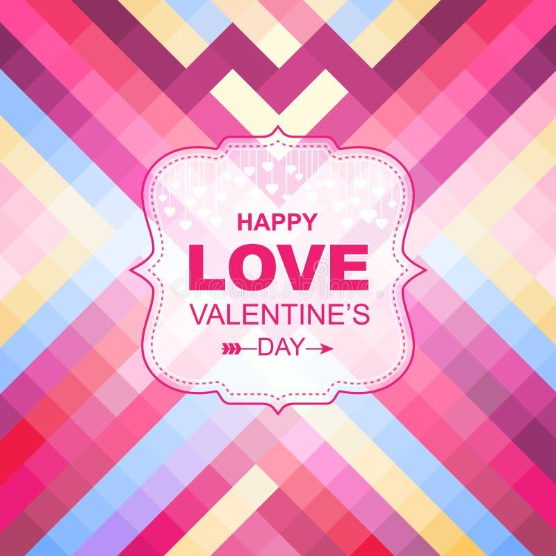 Tarjetas del día de tarjeta del día de San Valentín con los ornamentos stock de ilustración