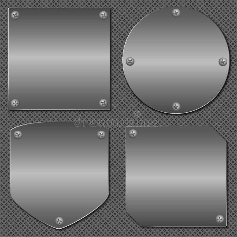 Tarjetas del metal stock de ilustración