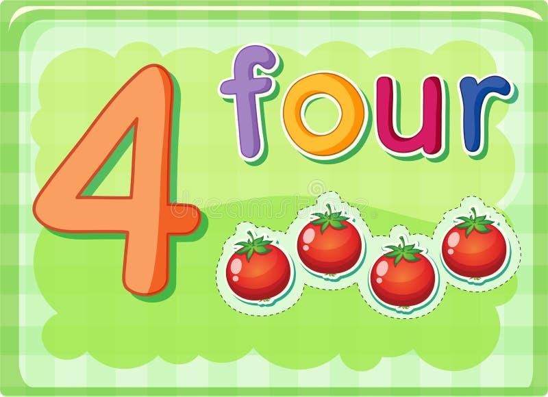 Tarjetas del número stock de ilustración