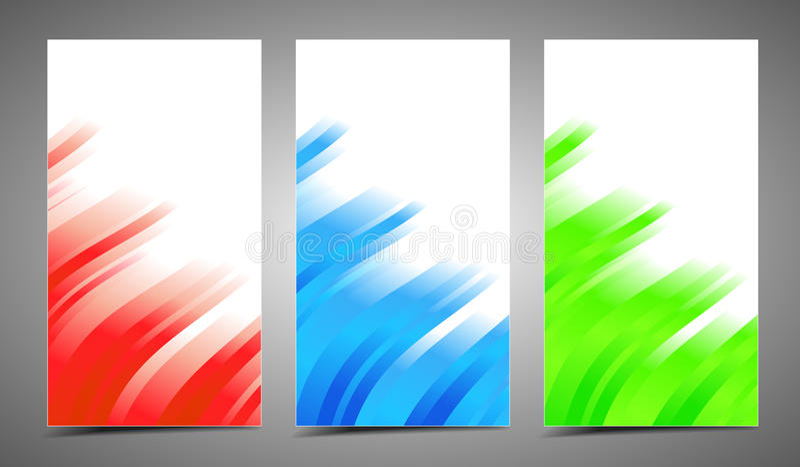 Tarjetas del profesional y del diseñador stock de ilustración
